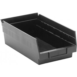 "Black Quantum® High Recycled Shelf Bin - 11-5/8"" L x 6-5/8"" W x 4"" Hgt."