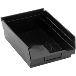 "Black Quantum® High Recycled Shelf Bin - 11-5/8"" L x 8-3/8"" W x 4"" Hgt."