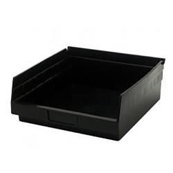 "Black Quantum® High Recycled Shelf Bin - 11-5/8"" L x 11-1/8"" W x 4"" Hgt."