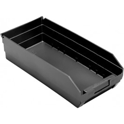 "Black Quantum® High Recycled Shelf Bin - 17-7/8"" L x 8-3/8"" W x 4"" Hgt."