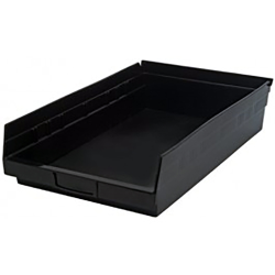 "Black Quantum® High Recycled Shelf Bin - 17-7/8"" L x 11-1/8"" W x 4"" Hgt."