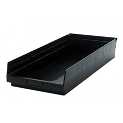 "Black Quantum® High Recycled Shelf Bin - 23-5/8"" L x 11-1/8"" W x 4"" Hgt."