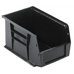 "Black Quantum® Ultra Series Recycled Stack & Hang Bin - 9-1/4"" L x 6"" W x 5"" Hgt."