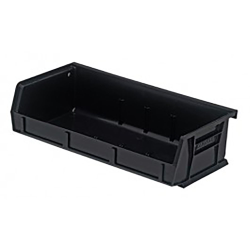 "Black Quantum® Ultra Series Recycled Stack & Hang Bin - 5"" L x 11"" W x 3"" Hgt."
