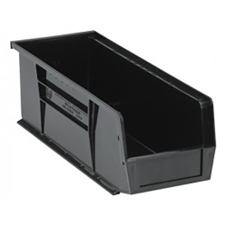"Black Quantum® Ultra Series Recycled Stack & Hang Bin - 14-3/4"" L x 5-1/2"" W x 5"" Hgt."