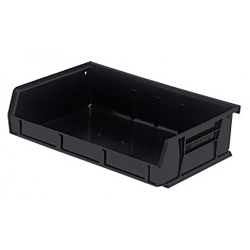"Black Quantum® Ultra Series Recycled Stack & Hang Bin - 7-3/8"" L x 11"" W x 3"" Hgt."