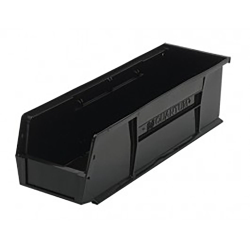 "Black Quantum® Ultra Series Recycled Stack & Hang Bin - 18"" L x 5-1/2"" W x 5"" Hgt."