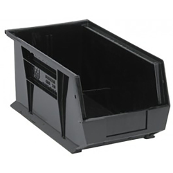 "Black Quantum® Ultra Series Recycled Stack & Hang Bin - 14-3/4"" L x 8-1/4"" W x 7"" Hgt."