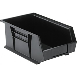 "Black Quantum® Ultra Series Recycled Stack & Hang Bin - 13-5/8"" L x 8-1/4"" W x 6"" Hgt."