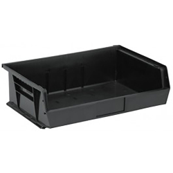 "Black Quantum® Ultra Series Recycled Stack & Hang Bin - 10-7/8"" x 16-1/2"" W x 5"" Hgt."