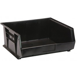 "Black Quantum® Ultra Series Recycled Stack & Hang Bin - 14-3/4"" L x 16-1/2"" W x 7"" Hgt."