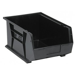 "Black Quantum® Ultra Series Recycled Stack & Hang Bin - 16"" L x 11"" W x 8"" Hgt."