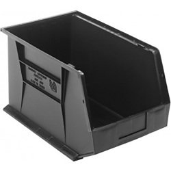 "Black Quantum® Ultra Series Recycled Stack & Hang Bin - 18"" L x 11"" W x 10"" Hgt."