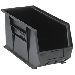 "Black Quantum® Ultra Series Recycled Stack & Hang Bin - 18"" L x 8-1/4"" W x 9"" Hgt."