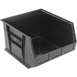 "Black Quantum® Ultra Series Recycled Stack & Hang Bin - 18"" L x 16-1/2"" W x 11"" Hgt."