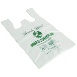 """18-1/2"""" x 21"""" 0.90 mil NaturBag™ Compostable Shopper Bags - Case of 500"""