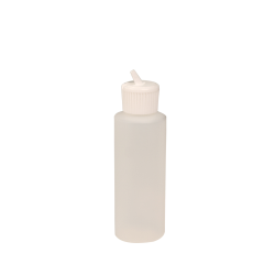 4 oz. Natural HDPE Cylindrical Sample Bottle with 24/410 Flip-Top Cap