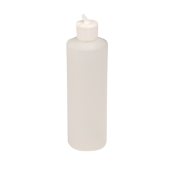 12 oz. Natural Cylindrical Sample Bottle with 24/410 Flip-Top Cap
