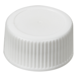 18/400 White Polypropylene Ribbed Cap with F217 Liner