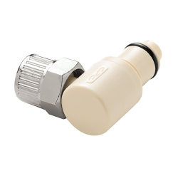 "3/8"" Ferruless PLC Series Polypropylene Elbow Insert - Shutoff"
