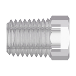 "1/16"" NPT Natural Kynar® PVDF Threaded Plug"