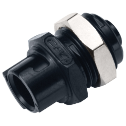 Hose Barb Acetal Black Panel Mount Coupling Body