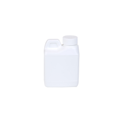 4 oz. White F-Style Jug with 24/400 Plain Cap with F217 Liner