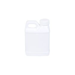 8 oz. White F-Style Jug with 28/400 Plain Cap
