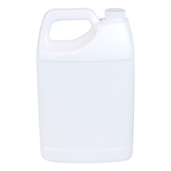1 Gallon White F-Style Jug with 38/400 Plain Cap with F217 Liner