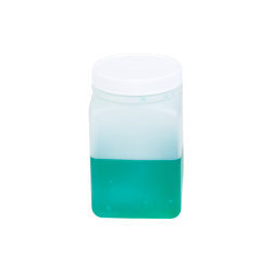16 oz. HDPE Square Jar with 70/400 Cap
