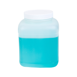 64 oz. HDPE Square Jar with  89/400 Cap