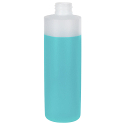 16 oz. Natural Cylinder Bottle with 28/410 Neck (Cap Sold Separately)