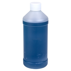 16 oz. Natural HDPE Modern Round Bottle with 28/410 Plain Cap