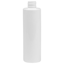 12 oz. White HDPE Cylindrical Sample Bottle with 24/410 Neck (Cap Sold Separately)