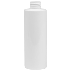16 oz. White HDPE Cylindrical Sample Bottle with 24/410 Neck (Sprayer or Cap Sold Separately)