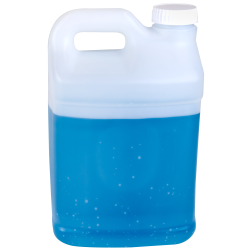 2-1/2 Gallon Natural F-Style Jug with 63mm Unlined Rieke Cap