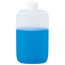 2 oz. Natural LDPE Oval Bottle with Plain 18mm Plain Cap