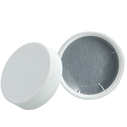 63/400 Polypropylene White Cap with Heat Induction Liner