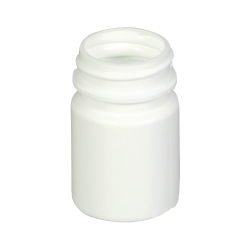 1 oz./30cc White HDPE Wide Mouth Packer with 33/400 Neck (Cap & Band Sold Separately)