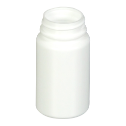 2 oz./60cc White HDPE Wide Mouth Packer with 33/400 Neck (Cap & Band Sold Separately)