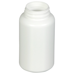 8.5 oz./250cc White HDPE Wide Mouth Packer with 45/400 Neck (Cap & Band Sold Separately)