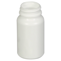 3 oz./75cc White Wide Mouth Packer with 33/400 Neck (Cap Sold Separately)