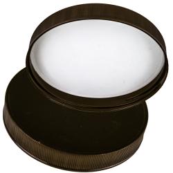 110/400 Polypropylene Black Cap with Heat Induction Liner