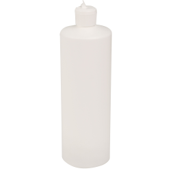 32 oz. White Cylindrical Sample Bottle with 28/410 Flip-Top Cap
