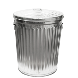 24 Gallon Galvanized Steel Trash Can & Lid