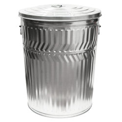 32 Gallon Galvanized Steel Trash Can & Lid