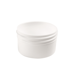 Polypropylene Low Profile White Jars & Caps