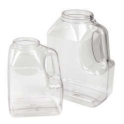 128 oz. Multi-Use Clear PVC Container with Handle & 89/400 Neck  (Cap Sold Separately)