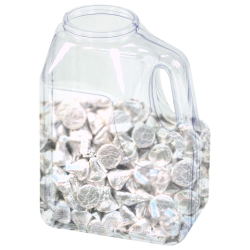 64 oz. Multi-Use Clear PVC Container with Handle & 70/400 Neck  (Cap Sold Separately)
