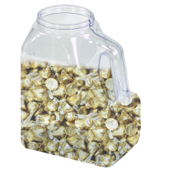 96 oz. Multi-Use Clear PVC Container with Handle & 89/400 Neck  (Cap Sold Separately)